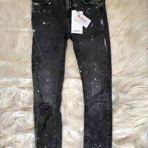 Zara Jeans - NWT Zara Paint Splatter The Skinny Jeans Distress